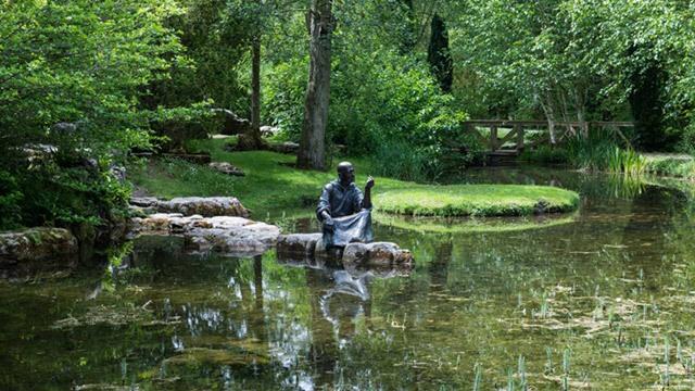 Statue on lake image