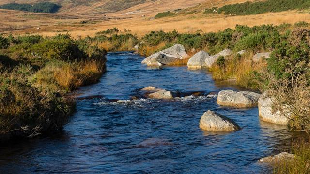 Water flows through mountain (Wicklow) image
